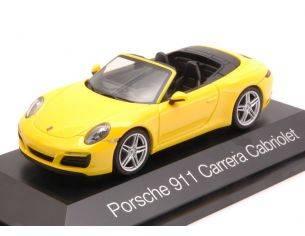 Herpa HP7102 PORSCHE 911 CARRERA CABRIOLET 2016 YELLOW 1:43 Modellino