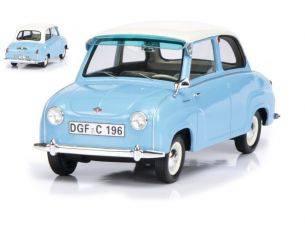 Schuco SH0096 GOGGOMOBIL 1955 LIGHT BLUE W/WHITE ROOF 1:18 Modellino