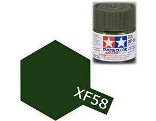 TamiyaMini XF-58 Olive Green 10ml Colore Acrylic per modellismo