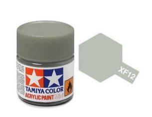 Tamiya Mini XF-12 JN Grey 10ml Colore Acrylic per modellismo