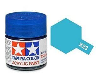 Tamiya Mini X-23 Clear Blue 10ml Acrylic Color per modellismo