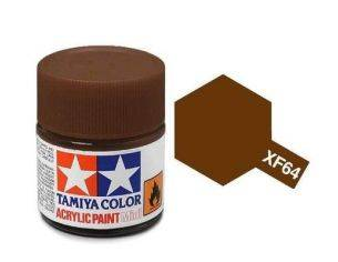 Tamiya Mini XF-64 Red Brown 10ml Acrylic Color per modellismo