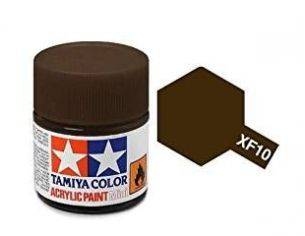 Tamiya Mini XF-10 Flat Brown 10ml Acrylic Color per modellismo