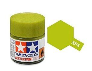 Tamiya Mini XF-04 Yellow Green 10ml Acrylic Color per modellismo