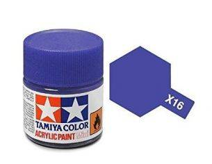 Tamiya Mini X-16 Purple 10ml Acrylic Color per modellismo