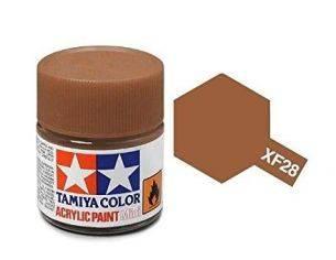 Tamiya Mini XF-28 Dark Copper 10ml Acrilyc Color per modellismo
