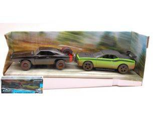 Jada JADA97340 TWIN PACK SET DOM'S CHARGER R/T + LETTY'S CHALLENGER FAST & FURIOUS 1:32 Modellino