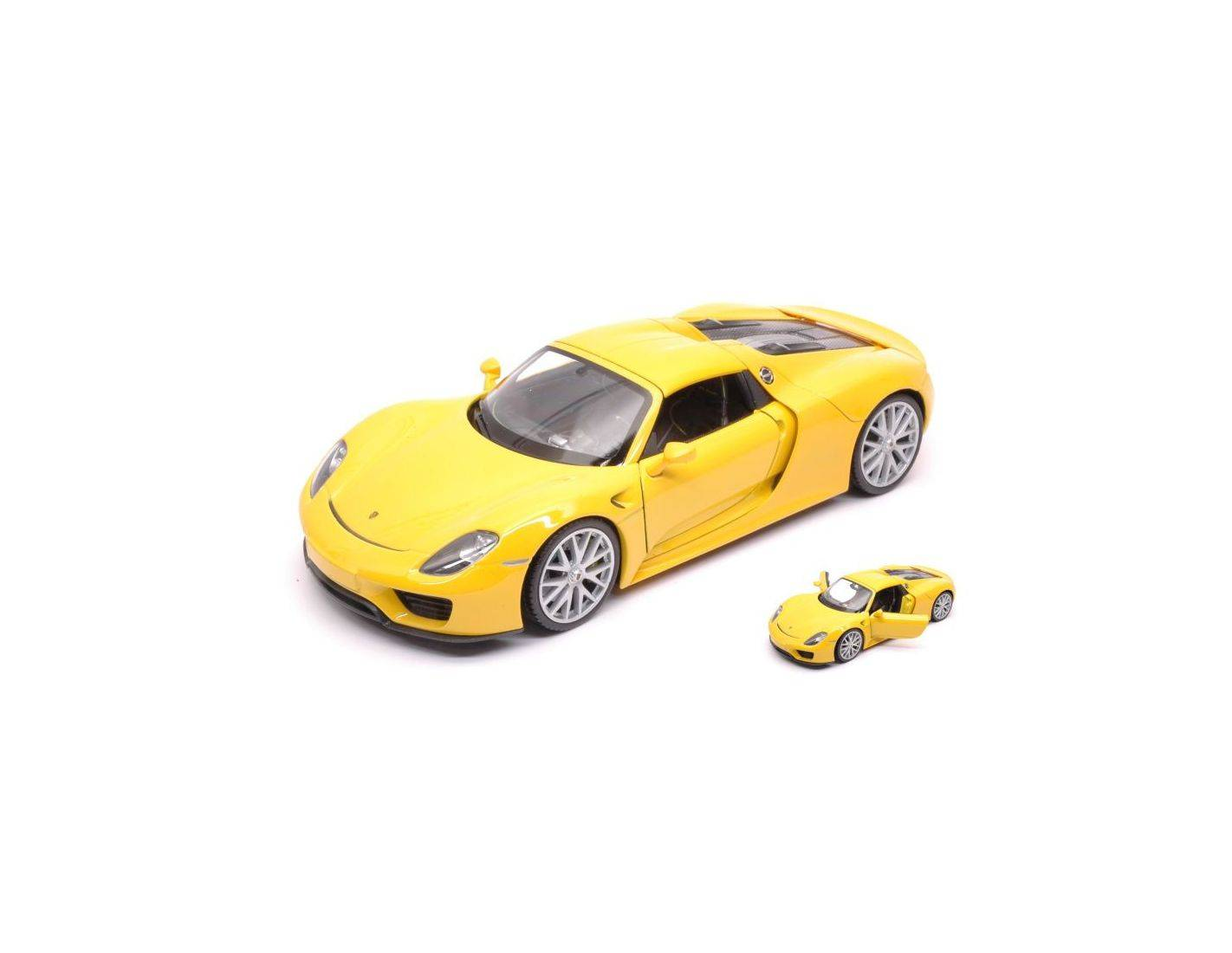 auto 1 24 welly we24055h ye porsche 918 spyder 2013 yellow 1 24 modellino modellino shop. Black Bedroom Furniture Sets. Home Design Ideas