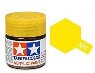 Tamiya Mini X-24 Clear Yellow 10ml Acrylic Color per modellismo
