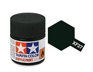 Tamiya Mini XF-27 Black Green 10ml Colore Acrylic per modellismo
