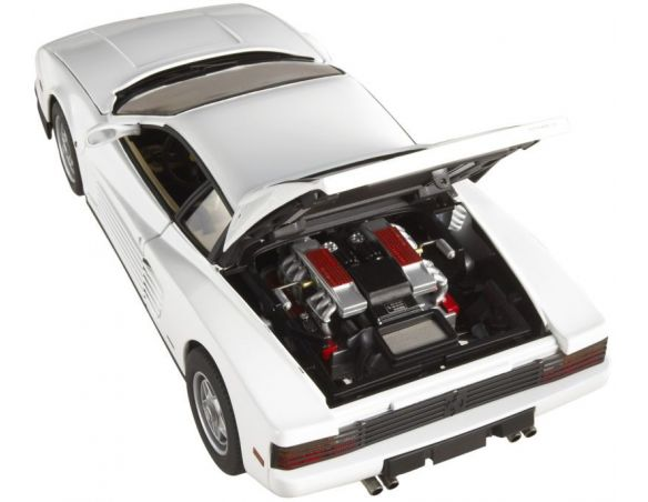 Hot Wheels Elite P9904 FERRARI TESTA ROSSA BIANCA  MIAMI VICE 1:18 Modellino
