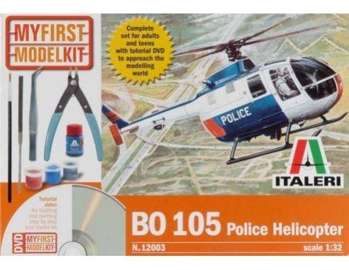 Italeri IT12003 BO 105 POLICE HELICOPTER KIT 1:32 Modellino