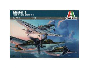 Italeri IT072 MISTEL 1 Ju 88 A-4 and Bf 109 F-4 KIT 1:72 Modellino