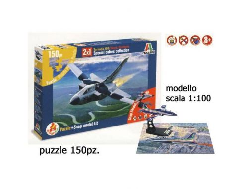 Italeri AS852 TORNADO IDS BLACK PANTERS PEZZI 150 KIT 1:100 Modellino