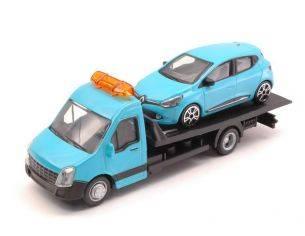 BBURAGO BU31401 RENAULT CLIO + FLATBED TRANSPORTER 1:43 Modellino