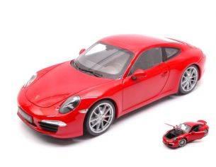Welly WE18047R PORSCHE 911 (991) CARRERA S RED 1:18 Modellino
