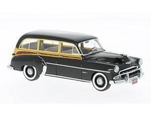 Neo Scale Models NEO46435 CHEVROLET DELUXE STYLELINE STATION WAGON 1952 WOODY BLACK 1:43 Modellino