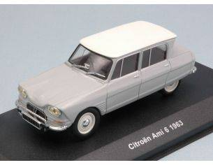 Solido SL4301400 CITROEN AMI 6 1963 LIGHT GREY WITH WHITE ROOF 1:43 Modellino