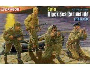 """Dragon 6457 SOVIET BLACK SEA COMMANDO, Crimea 1944"""" KIT 1:35 Personaggi"""