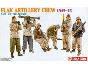 Dragon 6275 FLAK ARTILLERY CREW 1943-45 Model KIT 1:35 Personaggi