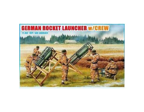 Dragon 6509 GERMAN ROCKET LAUNCHER WITH CREW Model 1:35 Kit Militari