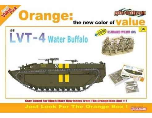 Dragon 9134 US LVT-4 Water Buffalo with Figures Model 1:35 Kit Militari