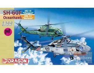 """Dragon 4601 SH-60F HS-14 """"Chargers"""" + Oceanhawk HSL-51 """"Warlords"""" 1:144 Kit Militari"""