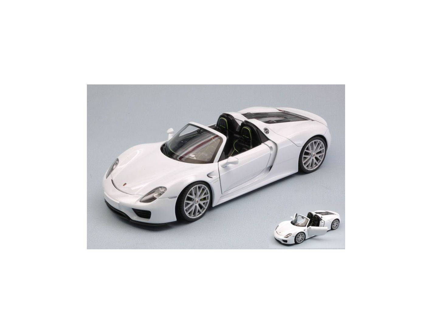 auto 1 24 welly we24055cw porsche 918 spyder 2013 white 1 24 modellino modellino shop. Black Bedroom Furniture Sets. Home Design Ideas