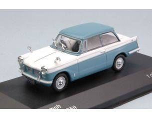 White Box WB119 TRIUMPH HERALD 1959 LIGHT BLUE/WHITE 1:43 Modellino