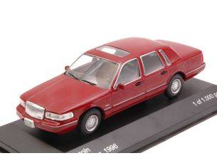 White Box WB133 LINCOLN TOWN CAR 1996 AMARANT RED 1:43 Modellino