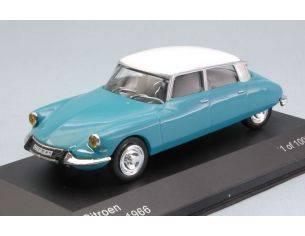 White Box WB229 CITROEN DS 19 1966 LIGHT BLUE/WHITE 1:43 Modellino