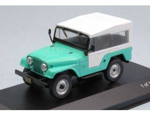 White Box WB234 JEEP CJ-5 1963 LIGHT GREEN/WHITE 1:43 Modellino