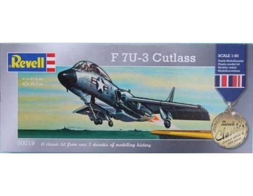 Revell 00019 F 7U-3 CUTLASS 1:60 Kit Modellino
