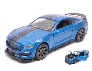 New Ray NY71833BL FORD SHELBY GT350R 2016 BLUE W/BLACK STRIPES 1:24 Modellino