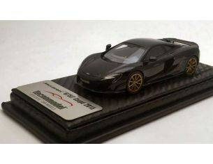 Tecnomodel TMD43EX01B MCLAREN 675 LT ONYX BLACK WITH GOLD WHEELS 2016 1:43 Modellino