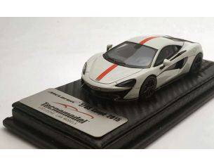 Tecnomodel TMD43EX02F MCLAREN 570S AVUS WHITE WITH RED STRIPE AND RED INSERT 2015 1:43 Modellino