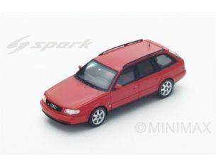 Spark Model S4883 AUDI S6 AVANT 1994 RED 1:43 Modellino