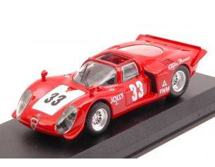 Best Model BT9667 ALFA ROMEO 33.2 SPYDER N.33 WINNER 3 H RIO DE JANEIRO 1969 C.PACE 1:43 Modellino