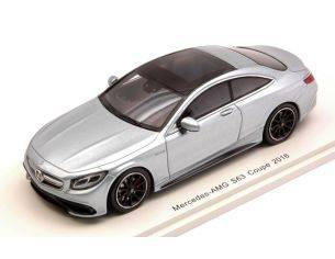 Spark Model S4917 MERCEDES AMG S 63 COUPE' 2016 SILVERBLUE 1:43 Modellino