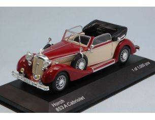 White Box WB258 HORCH 853A CONVERTIBLE 1935 DARK RED/CREAM 1:43 Modellino