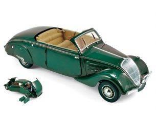 Norev NV184871 PEUGEOT 402 ECLIPSE 1937 DARK GREEN 1:18 Modellino