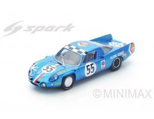 Spark Model S4375 ALPINE A210 N.55 14th LM 1968 J.C.ANDRUET-J.P.NICOLAS 1:43 Modellino