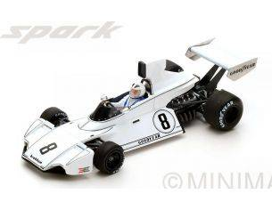 Spark Model S5258 BRABHAM BT44 R.ROBARTS 1974 N.8 15th BRAZILIAN GP 1:43 Modellino