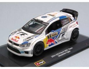 Bburago BU41047 VW POLO WRC N.1 S.OGIER-J.INGRASSIA 1:32 Modellino