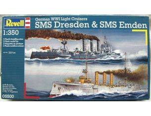 Revell 05500 GERMAN WWI LIGHT CRUISERS SMS DRESDEN & SMS EMDEN 1:350