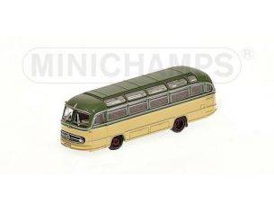 MINICHAMPS 169031080 BUS MERCEDES BENZ O321H 1957 GREEN & CREAM Modellino