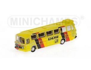 Minichamps PM169035184 MERCEDES BUS O302 MONDIALI CALCIO 1974 DDR 1:160 Modellino