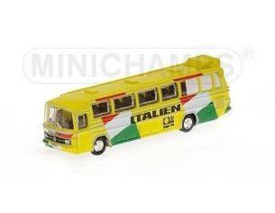 Minichamps PM169035187 MERCEDES BUS O321H 1974 NAZIONALE ITALIANA 1:160 Modellino