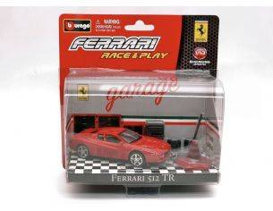 Bburago BU31100512 FERRARI 512 TR RED IN BLISTER CON ACCESSORI 1:43 Modellino