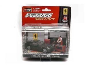 Bburago BU31100599GTBBL FERRARI 599 GTB FIORANO BLACK IN BLISTER CON ACCESSORI 1:43 Modellino